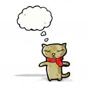 Cute cartoon cat — Cтоковый вектор