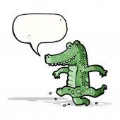 Cartoon friendly crocodile — Stock Vector