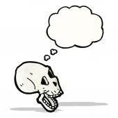 Spooky skallen med tankebubbla — Stockvektor