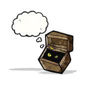 Monster in box cartoon — Vector de stock