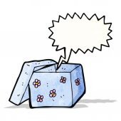 мультфильм пустой подарочной коробке — Cтоковый вектор
