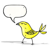 Bird with speech bubble cartoon — Stockvektor