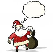 Santa claus with thought bubble — Stock Vector