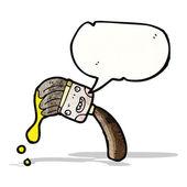 Cartoon brush with speech bubble — Stock Vector