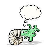 мультфильм наутилус кальмаров — Cтоковый вектор