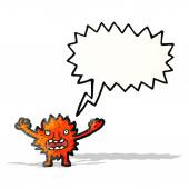 Magical imp cartoon — Stock Vector