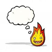 Cartoon little flame — Stockvektor