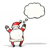 Cartoon happy santa — Stock Vector