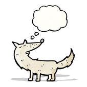 卡通狼与思想泡泡 — 图库矢量图片