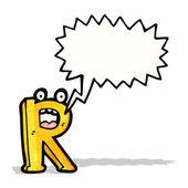 Cartone animato lettera r — Vettoriale Stock