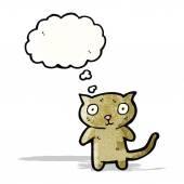 Gato bonito dos desenhos animados — Vetorial Stock