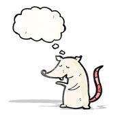Rato branco dos desenhos animados — Vetorial Stock
