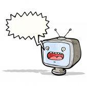 Cartoon television set  (raster version) — Stock Vector
