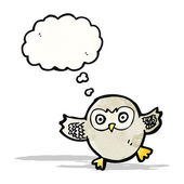 Cute little owl cartoon — Stock Vector