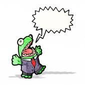 Cartoon frog in suit — ストックベクタ