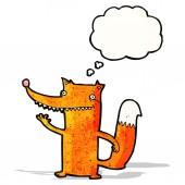 Funny cartoon fox — Vector de stock