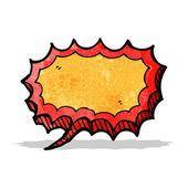 Cartoon shout speech bubble — Stock Vector