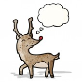 Happy cartoon reindeer — Stock Vector