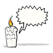 Cartoon candle with speech bubble — Wektor stockowy