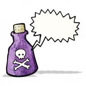 Cartone animato veleno — Vettoriale Stock