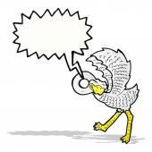 Cartoon ostrich — Cтоковый вектор