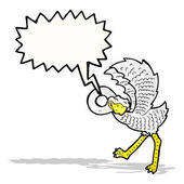 Karikatür devekuşu — Stok Vektör