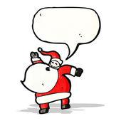 Cartoon santa claus with speech bubble — Stock Vector