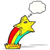 漫画の流れ星 — ストックベクタ