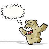Crazy cartoon bear — Stock Vector