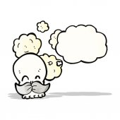 Funny cartoon skull — Stock Vector