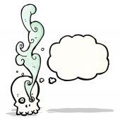 Cartone animato del cranio fumatori — Vettoriale Stock