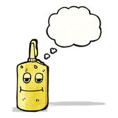 Cartoon mustard bottle — Stock Vector