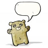 Tired teddy bear cartoon — Stock Vector