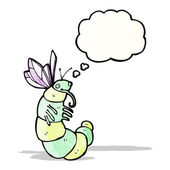 Cartoon funny fat butterfly — Stock Vector