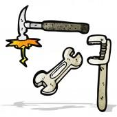 Cartoon tools — Stock Vector