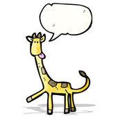 Cartoon giraffe — Stockvektor