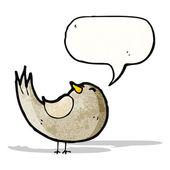 Kreskówka śpiew ptaków — Wektor stockowy
