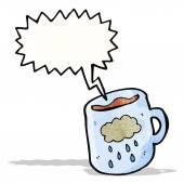 Desenhos animados de caneca de café — Vetor de Stock