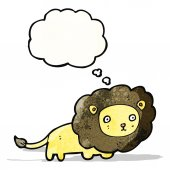 Cartoon lion  (raster version) — Vector de stock