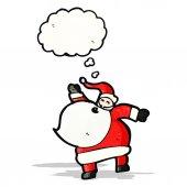 Cartoon dancing santa claus — Stock Vector