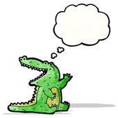 Dessin animé sympathique crocodile — Vecteur