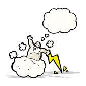 Cartoon gud på moln — Stockvektor
