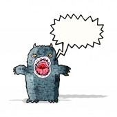 Cartoon roaring monster — Stock Vector