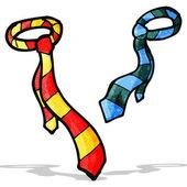 Cravatta di cartone animato — Vettoriale Stock