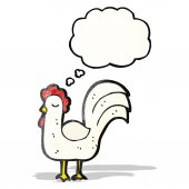 Cartoon chicken — Vector de stock