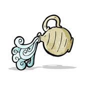 Cartoon pouring jug — Stock Vector