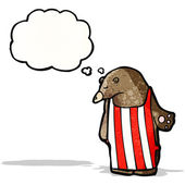 Urso de desenho animado no avental — Vetorial Stock
