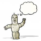 Retro robot cartoon — Stock Vector