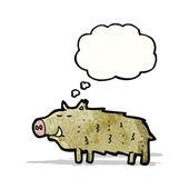 Cartoon warthog — Stock Vector