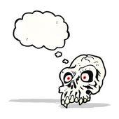 Spooky skull cartoon — Stock Vector